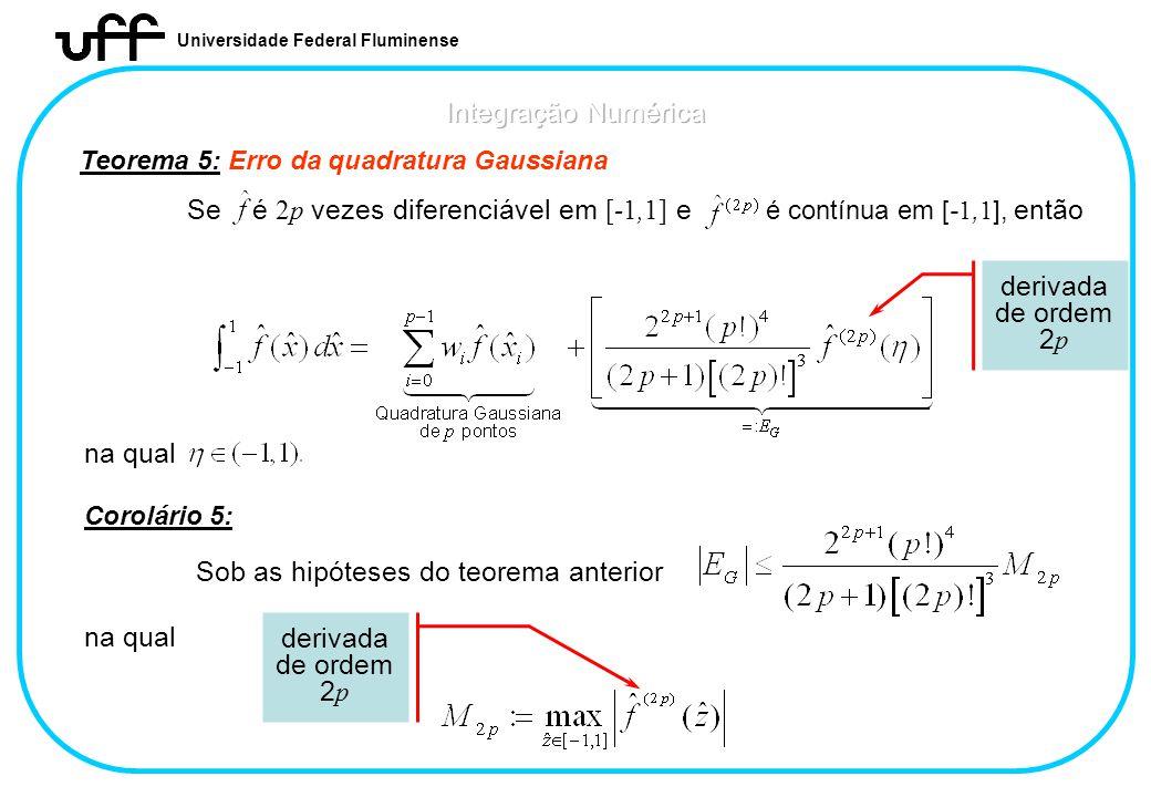Se é 2p vezes diferenciável em [-1,1] e é contínua em [-1,1], então